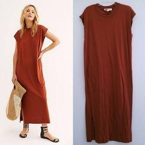 FP Beach All Day Long Midi T Shirt Copper Dress